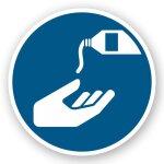 Handschutzmittel benutzen