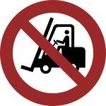 Für Flurfahrzeuge verboten