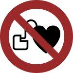 Verbot für Personen mit Herzschrittmachern
