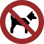 Mitführen von Hunden verboten