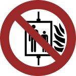 Aufzug im Brandfall nicht benutzen