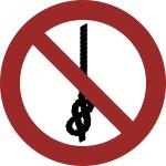 Knoten von Seilen verboten