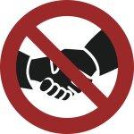 Händeschütteln verboten