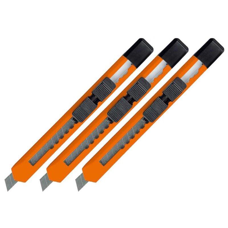 3 Kartonmesser Cuttermesser Orange