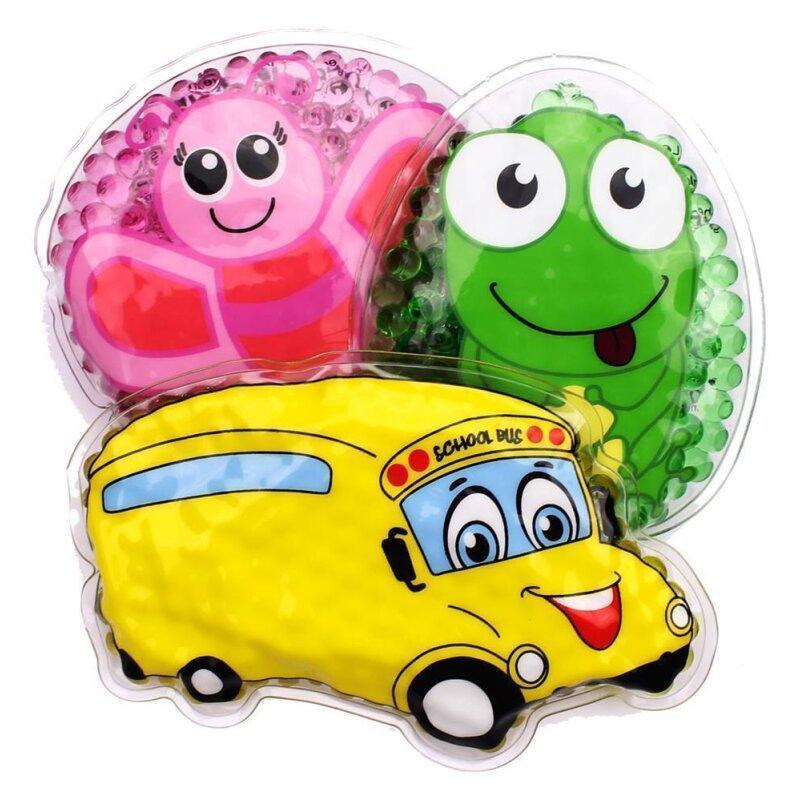 3er Set Kühlpads Auto/Bus, Schmetterling, Frosch