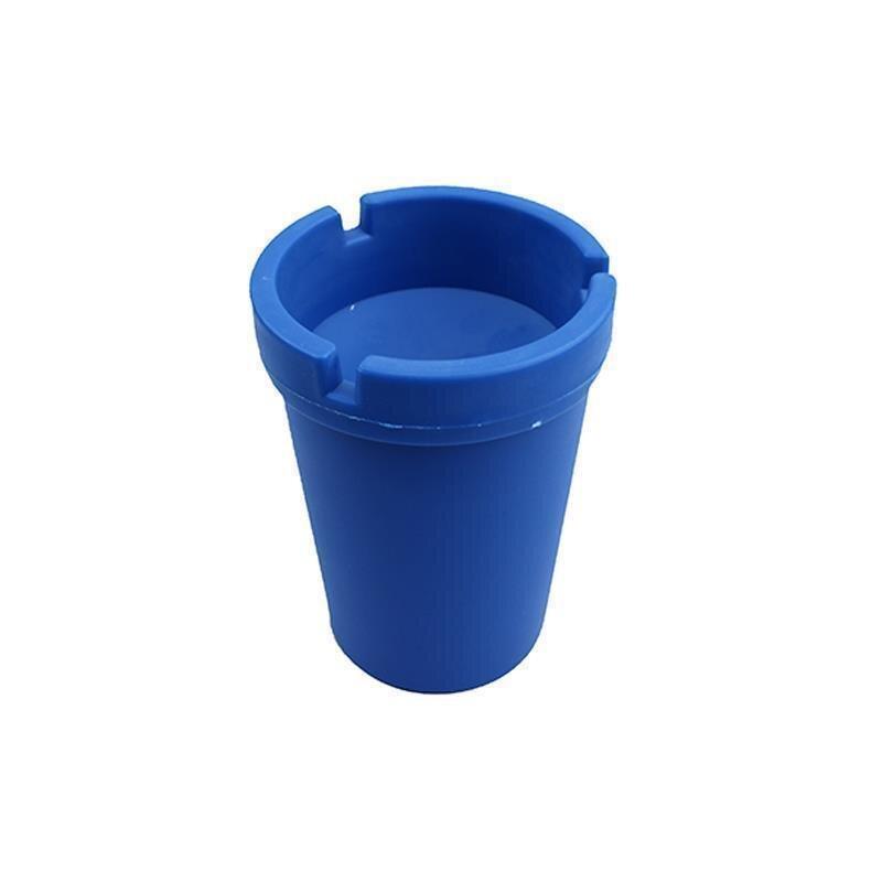 Aschenbecher Blau aus robustem Kunststoff