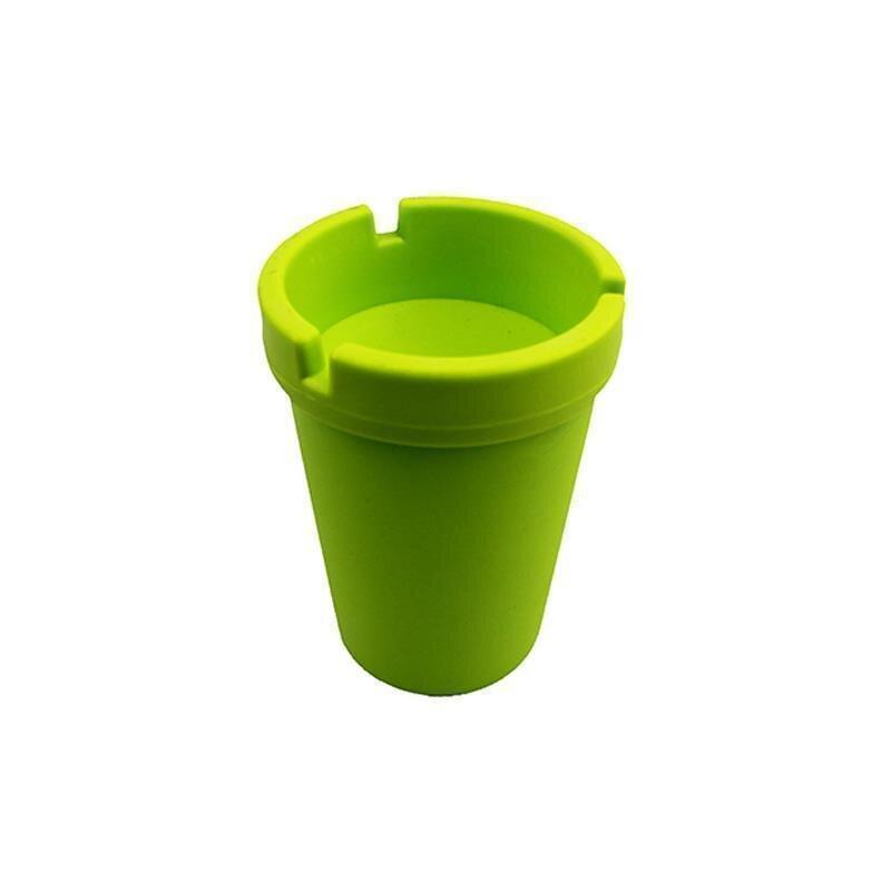 Aschenbecher Grasgrün aus robustem Kunststoff