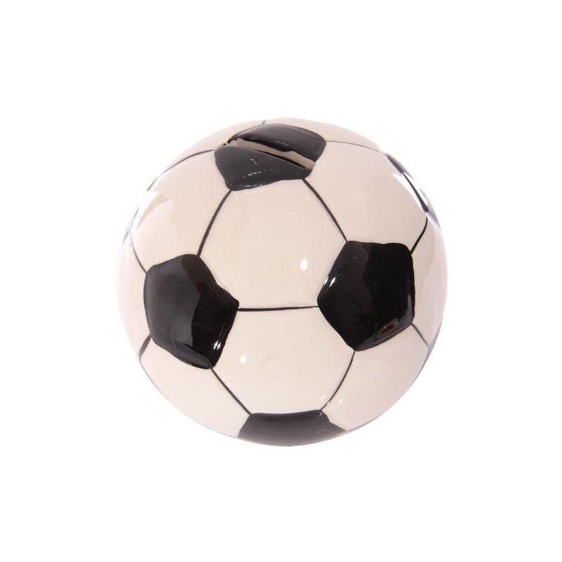 Keramik Fußball Spardose Schwarz-weiß