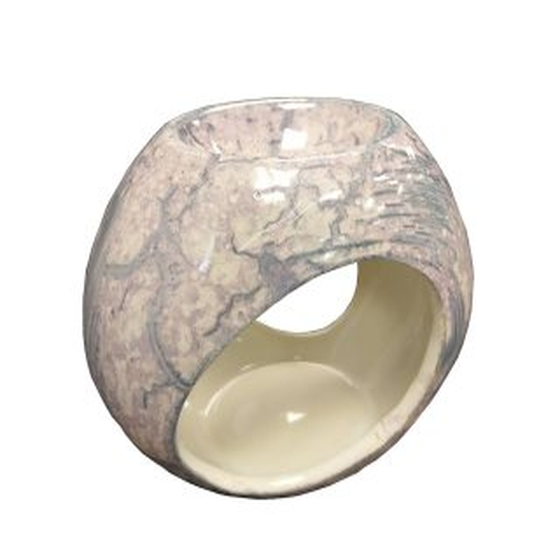 Keramik Duftlampe violettmiliert