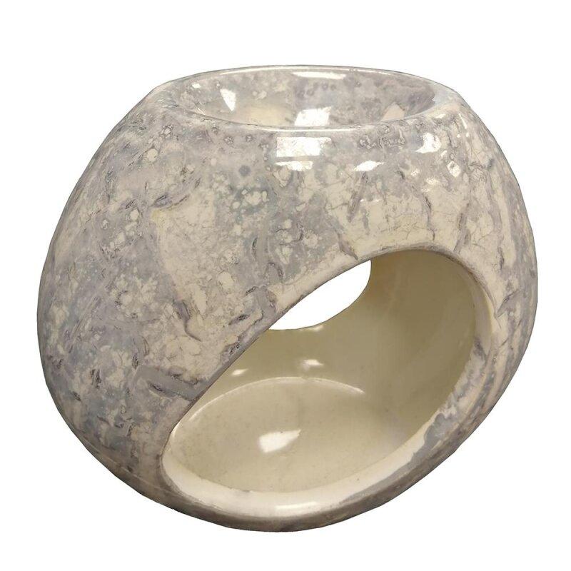Keramik Duftlampe blaumiliert