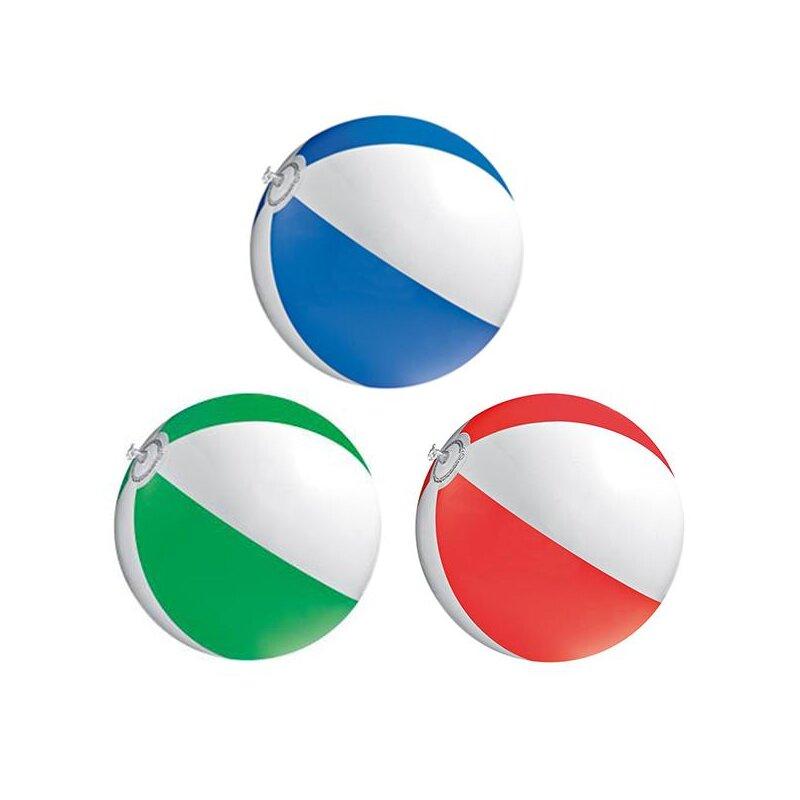3er Set Strandball 26 cm Rot Blau Grün