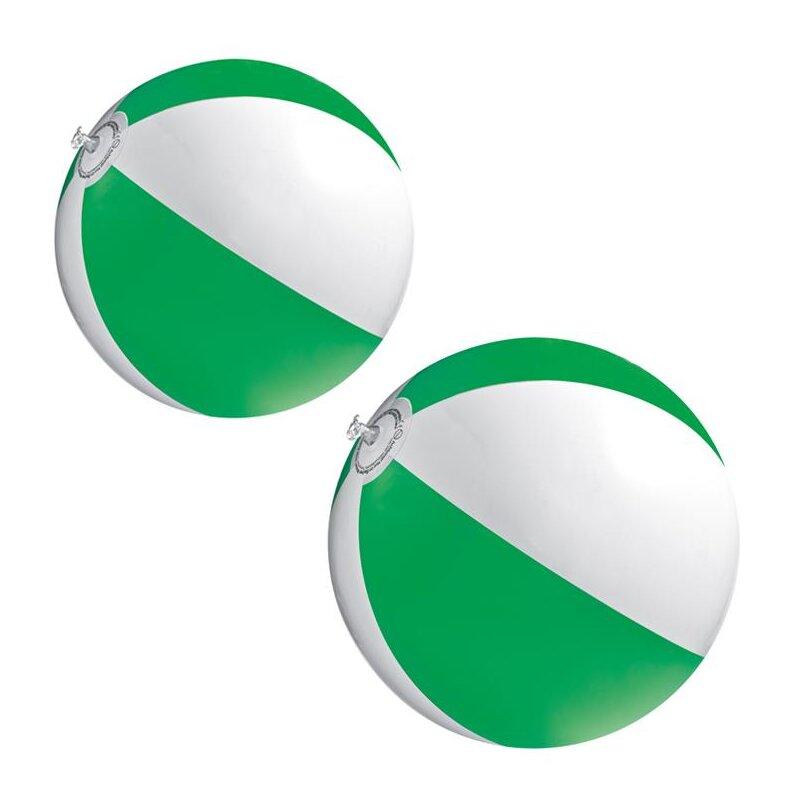 2er Set Strandball 26 cm Grün