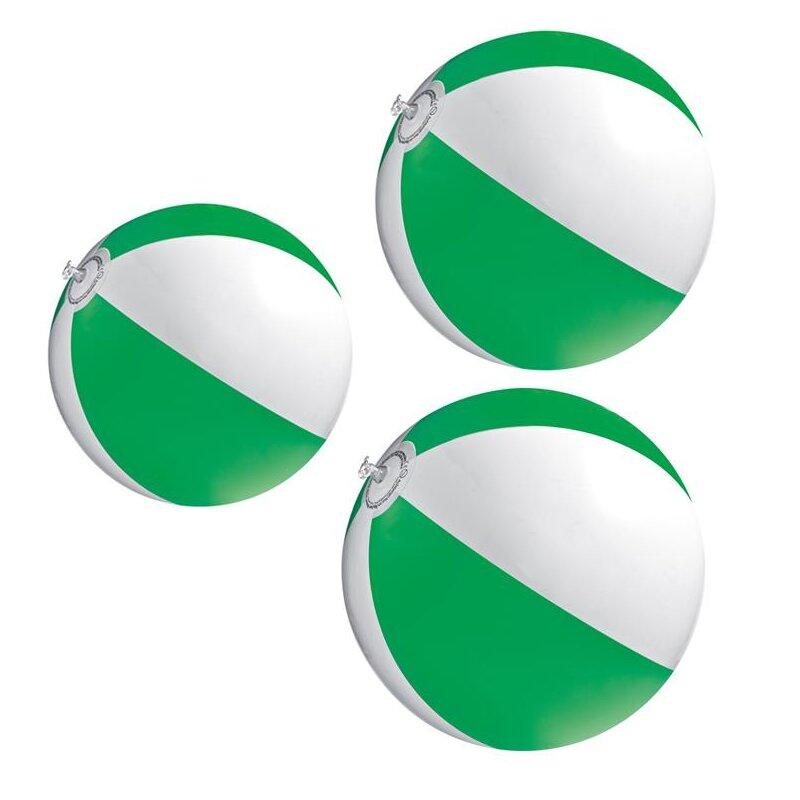 3er Set Strandball 26 cm Grün
