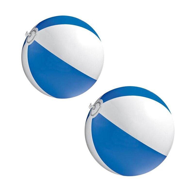 2er Set Strandball 26 cm Blau