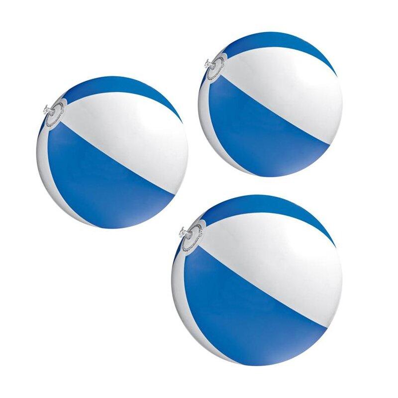 3er Set Strandball 26 cm Blau