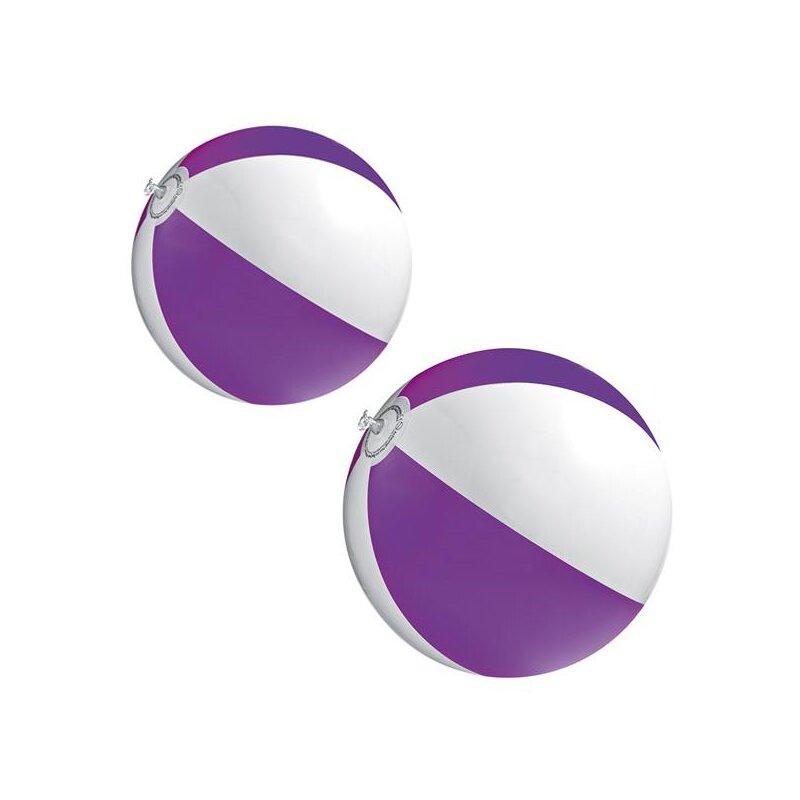 2er Set Strandball 26 cm Lila