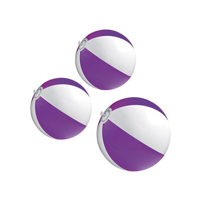 3er Set Strandball 26 cm Lila