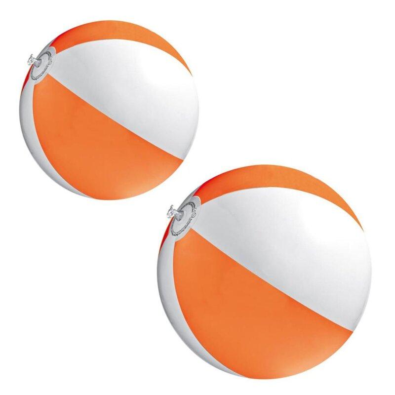 2er Set Strandball 26 cm Orange