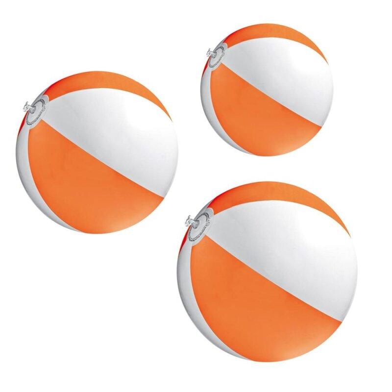 3er Set Strandball 26 cm Orange
