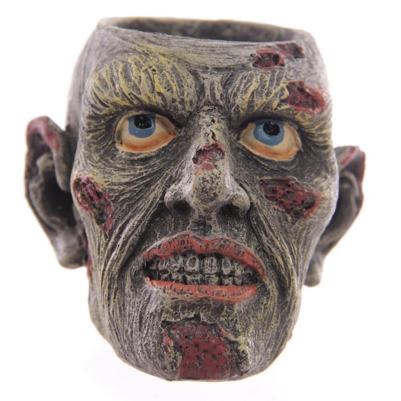 Zombie-Kopf grinsend Teelichthalter 6,5cm