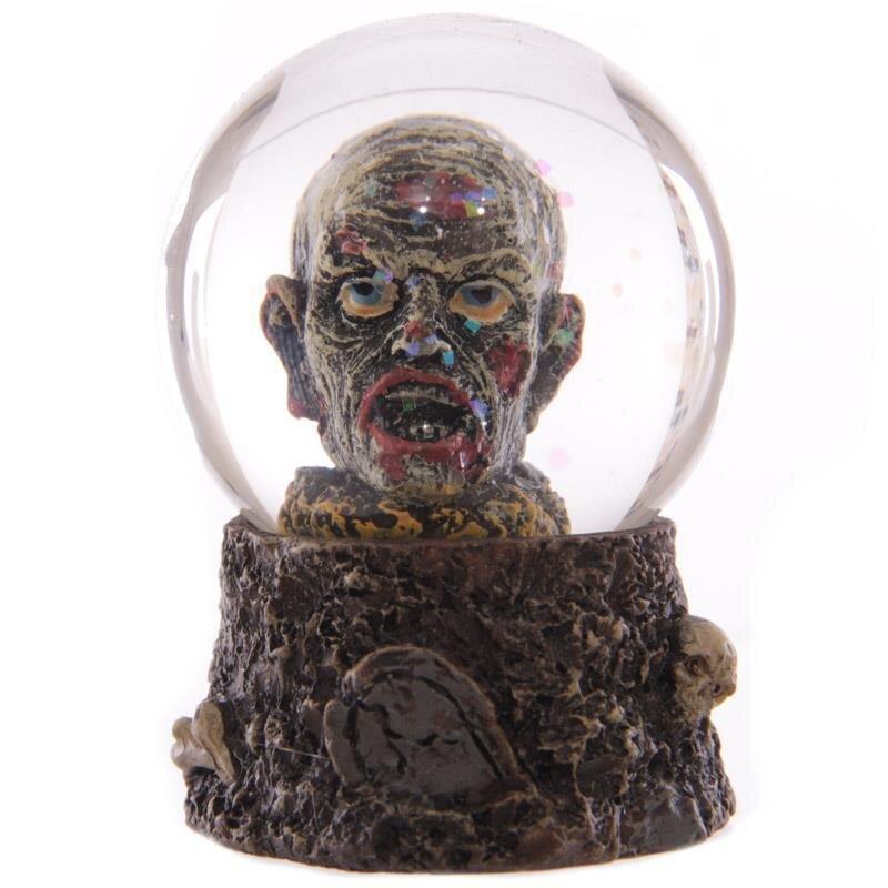 Zombie-Kopf Schneekugel Glaskugel Halloween Kugel