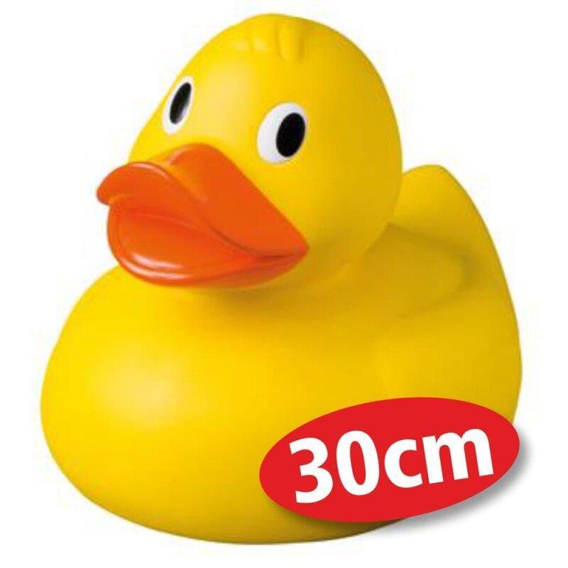 Quietsche-Ente Giant 30 cm hoch Badespaß Gummiente Quitschente Badeente Badespielzeug