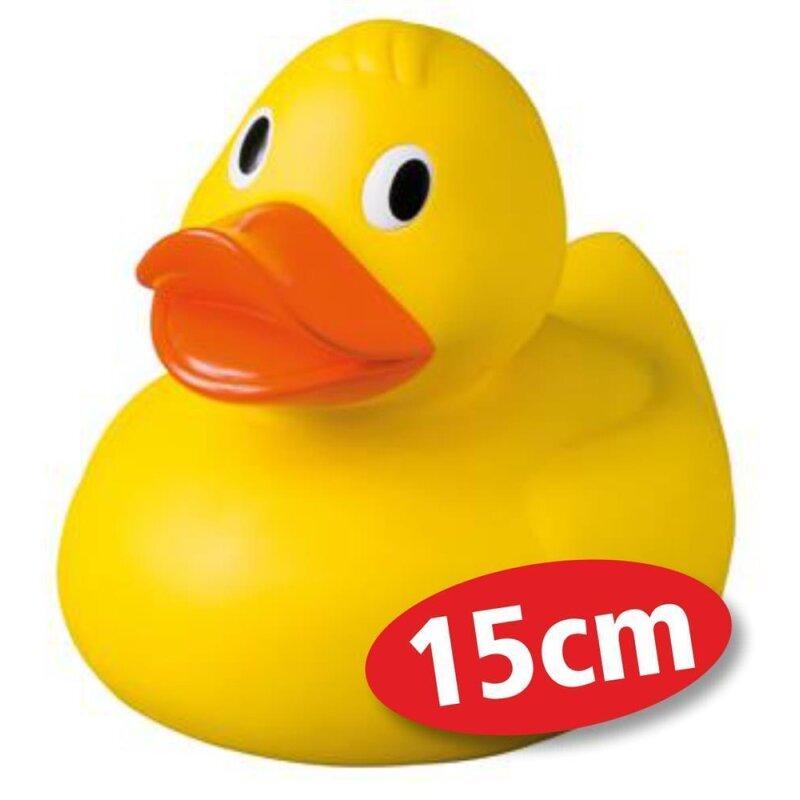 Quietsche-Ente Giant XL 15 cm Badespaß Gummiente Quitschente Badeente Badespielzeug