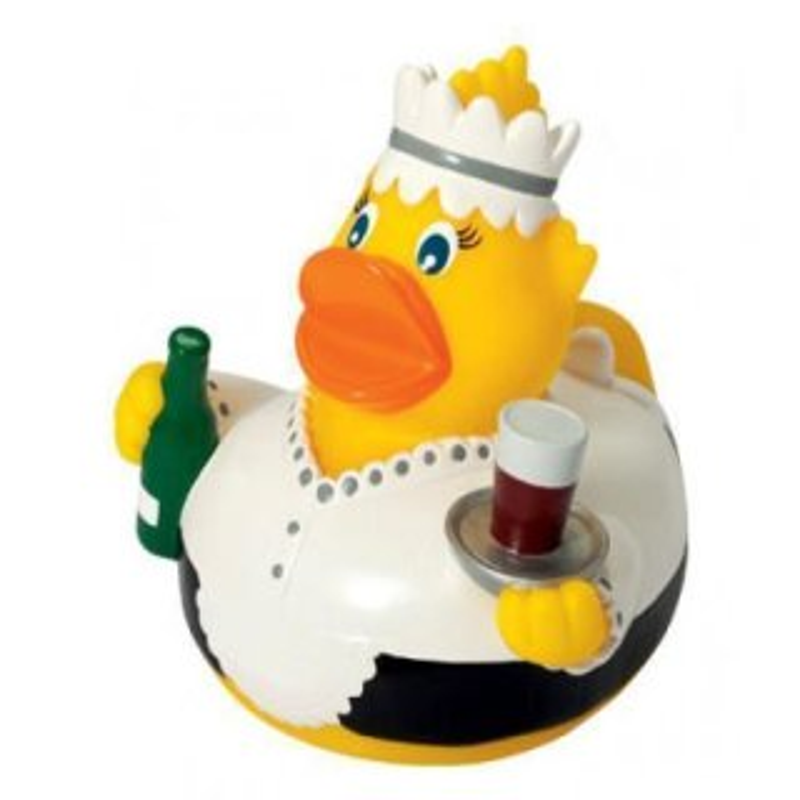 Quietsche-Ente Kellnerin Badespaß Gummiente Quietschente Badeente Badespielzeug