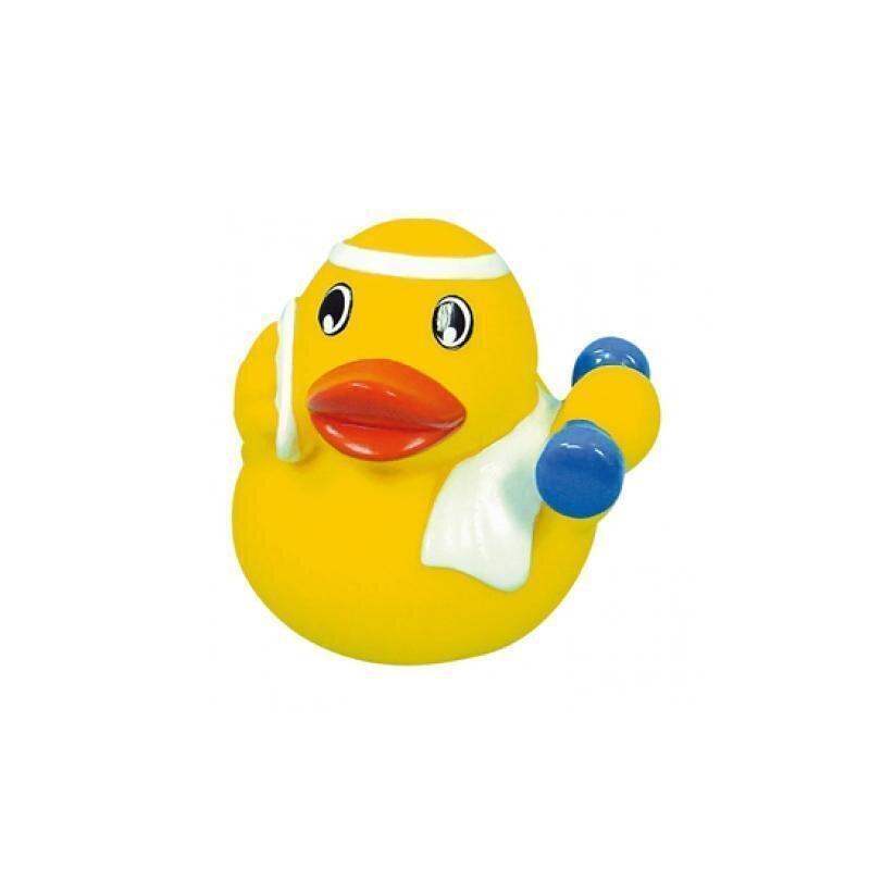 Quietsche-Ente Fitness Badeente Gummiente Spielzeugente Badespaß Quitscheente