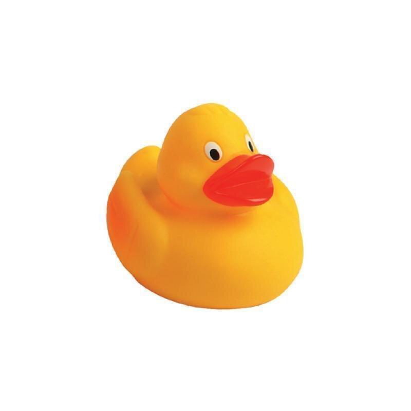 Quietsche-Ente für Entenrennen 10 cm Badeente Gummiente Spielzeugente Badespaß, mit Metallplatte