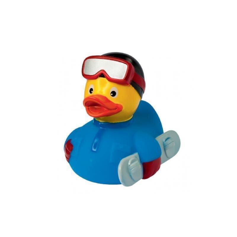 Quietsche-Ente Snowboarder Badeente Gummiente Spielzeugente Badespaß Quitscheente