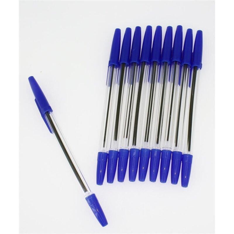 30er-Set Kugelschreiber mit blauer Mine