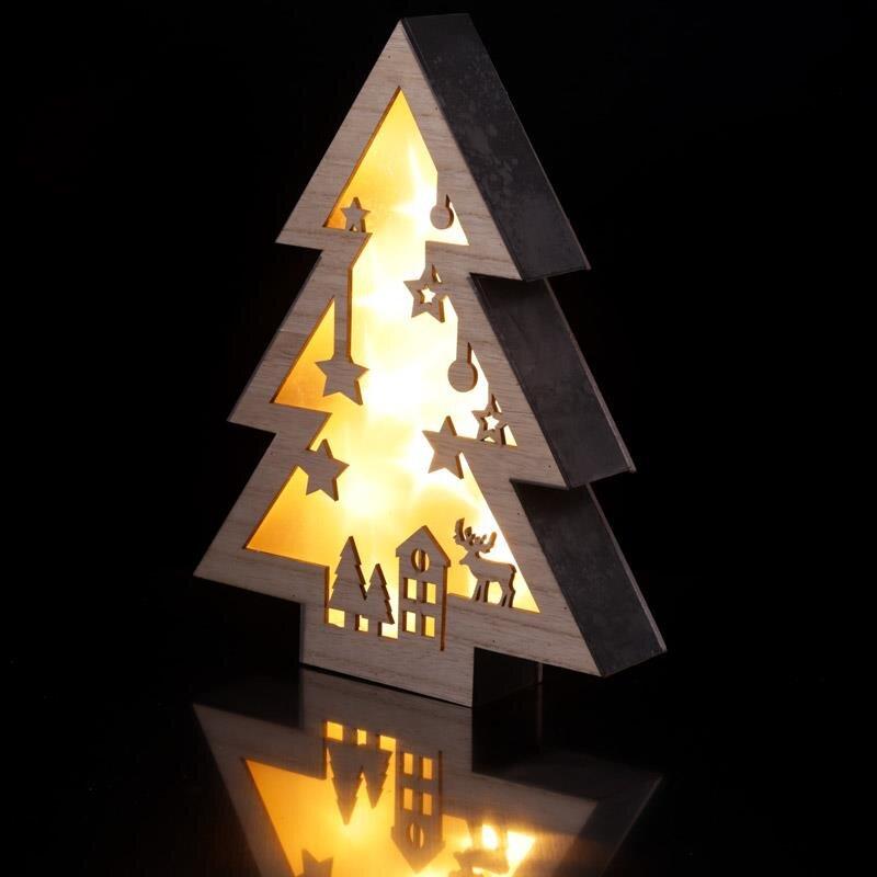 LED Weihnachtsbaum Deko mit Weihnachtsszene