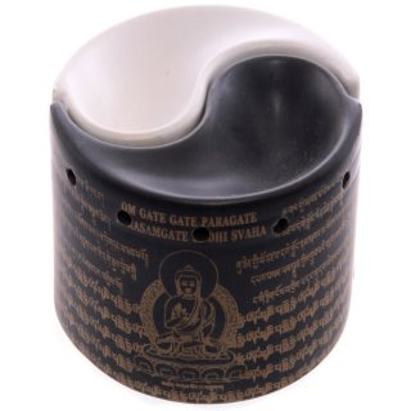 Zweiteilige Yin Yang Duftlampe, Keramik