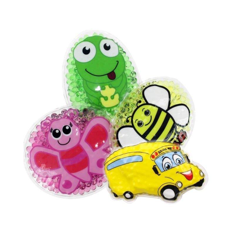 4 Kühlpads Auto/Bus, Biene, Schmetterling, Frosch
