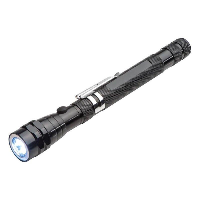 LED Taschenlampe mit Teleskopfunktion aus Metall bis 57,7 cm ausziehbar