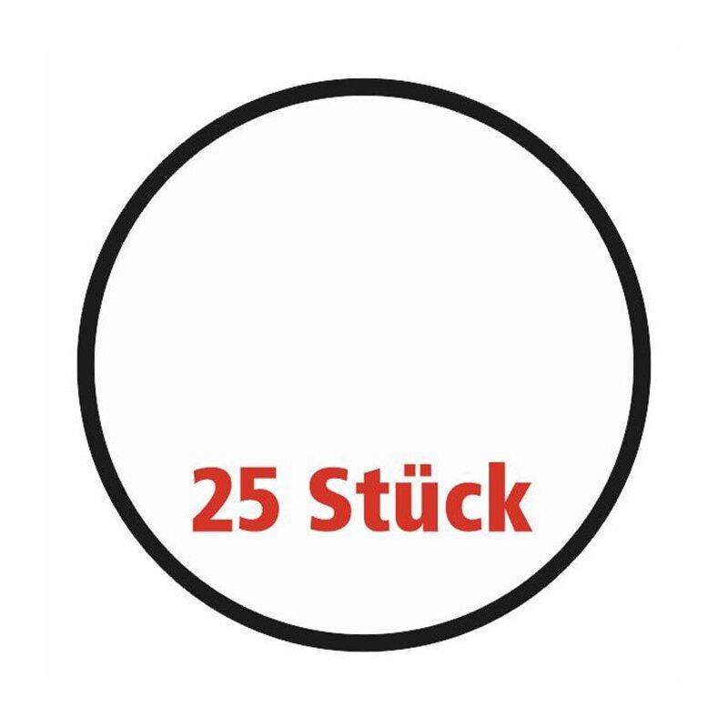25 Frisbee, weiß, faltbar mit Etui aus Polyester