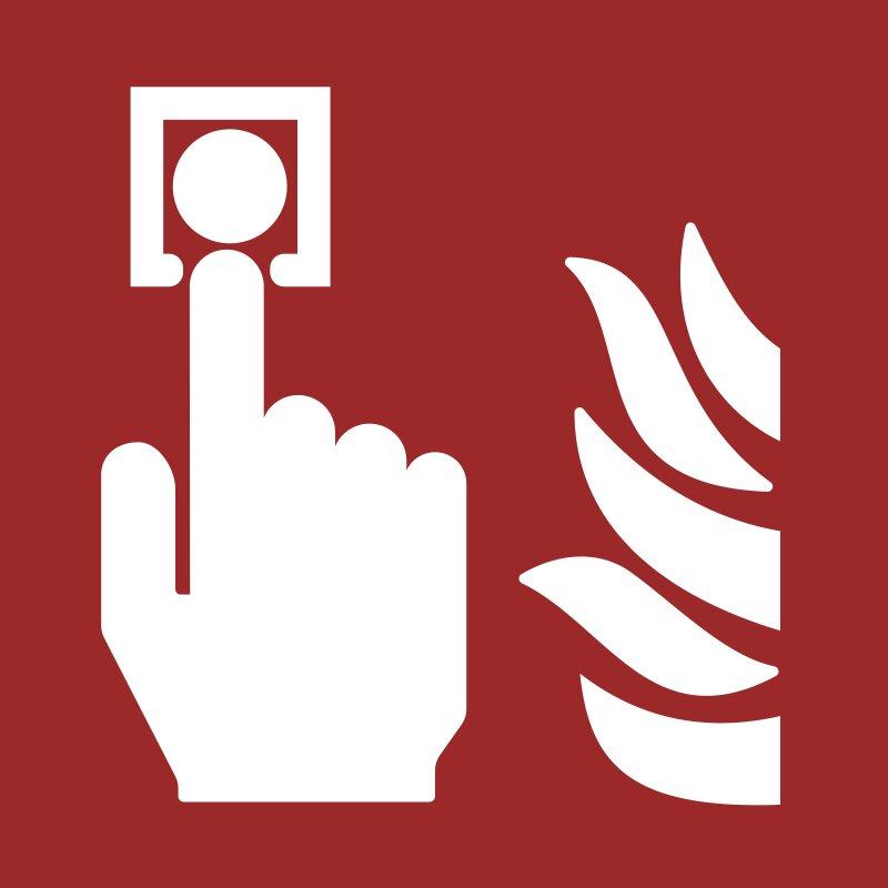 """Aufkleber """"Brandmelder"""", DIN ISO 7010, Premiumqualität"""