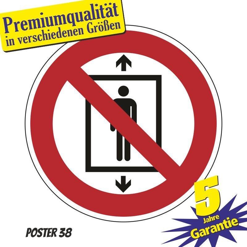 """Aufkleber """"Personenbeförderung verboten"""" DIN ISO 7010, Premiumqualität verschiedene Größen"""