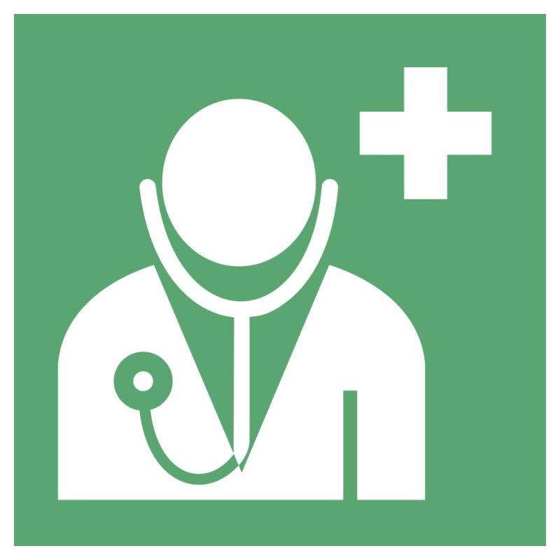 """Aufkleber """"Arzt"""", DIN ISO 7010, Premiumqualität verschiedene Größen"""