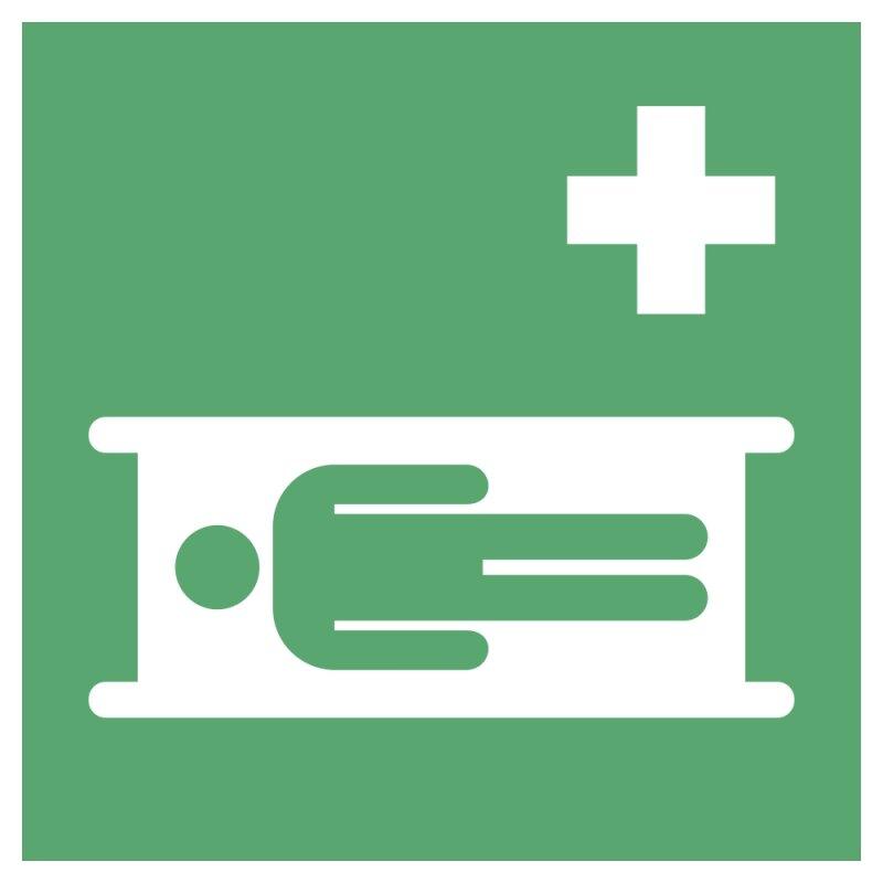 """Aufkleber """"Krankentrage"""", DIN ISO 7010, Premiumqualität verschiedene Größen"""