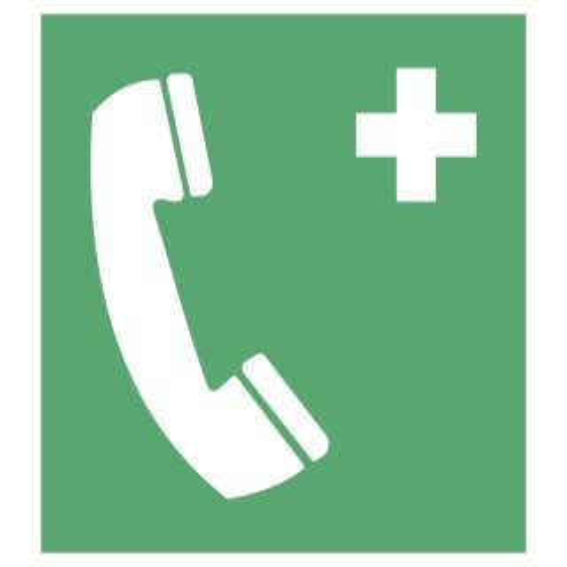 """Aufkleber """"Notruftelefon"""", DIN ISO 7010, Premiumqualität verschiedene Größen"""
