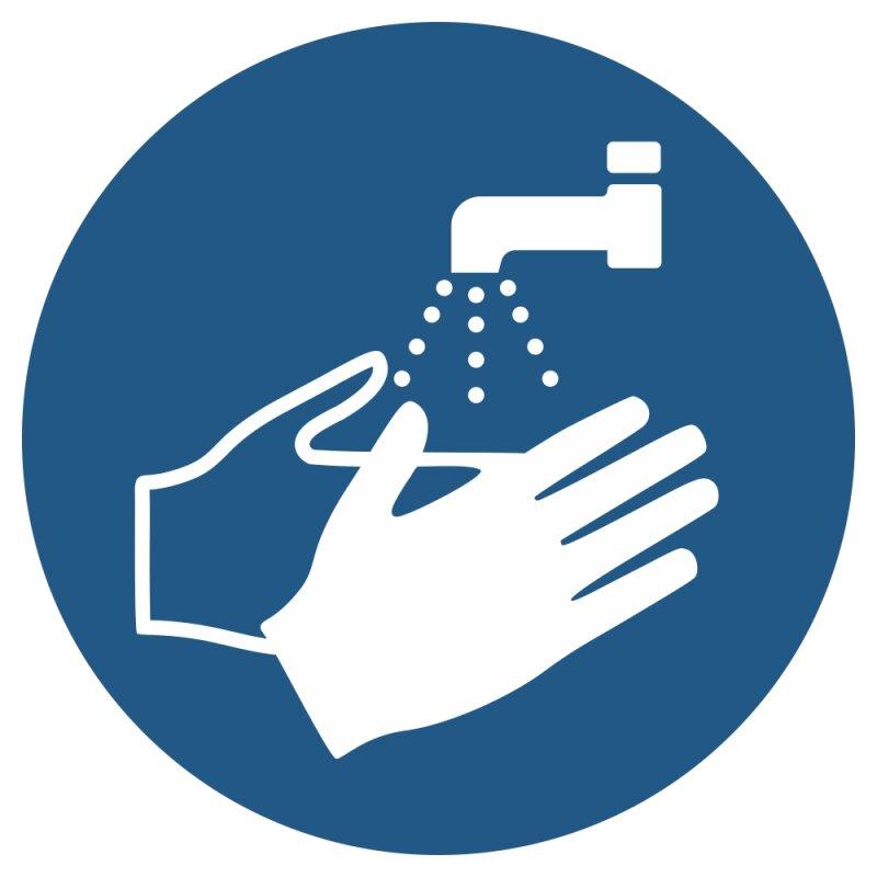 """Aufkleber """"Hände waschen"""", DIN ISO 7010, Premiumqualität verschiedene Größen"""