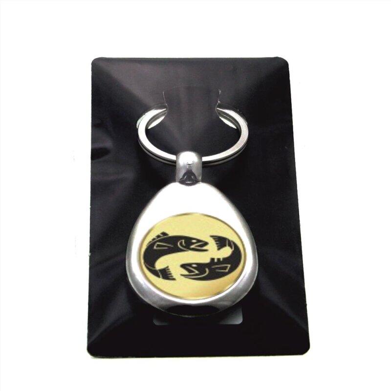 """Metall Schlüsselanhänger mit Einkaufschip Sternzeichen """"Jungfrau"""" Gold/Silber/Bronze"""