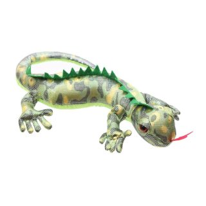 Sandgefüllter Salamander grün, Groß