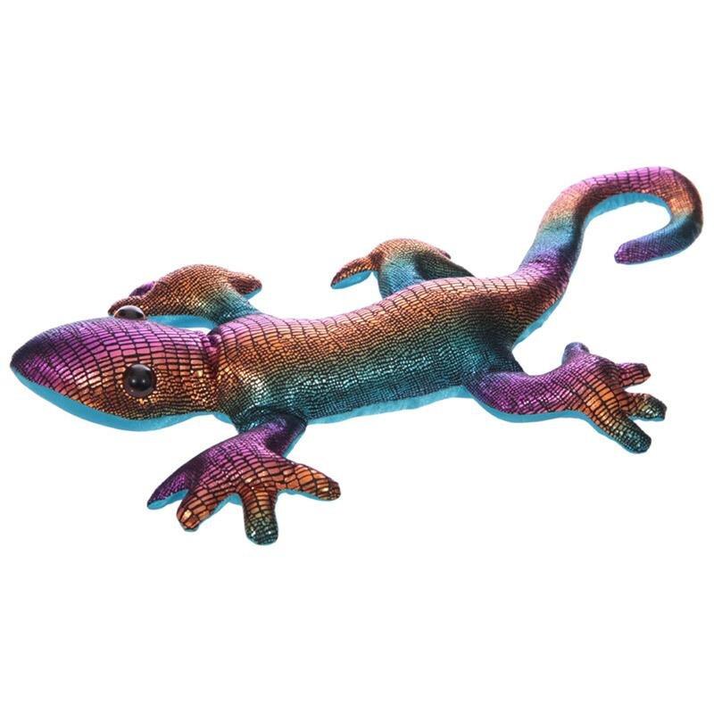 Sandgefüllter Gecko Regenbogen dunkel, Groß