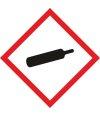 """Aufkleber Gefahrzeichen """"GHS04, Gase unter..."""