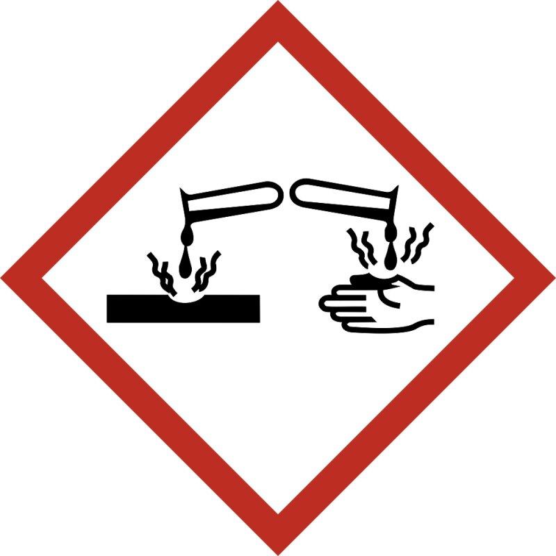 """Aufkleber Gefahrzeichen """"GHS05, korrosiv, ätz-/reizwirkend"""", Premiumqualität verschiedene Größen"""