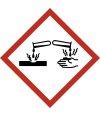 """Aufkleber Gefahrzeichen """"GHS05, korrosiv,..."""