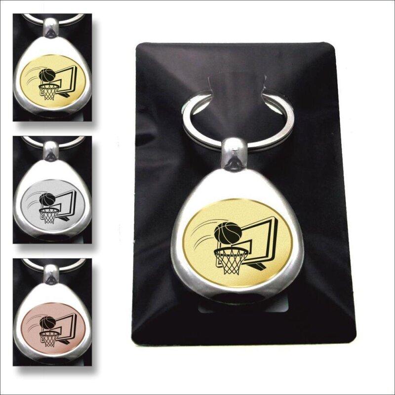 """""""Basketball"""" Schlüsselanhänger mit Einkaufschip Sport in Gold/Silber/Bronze"""